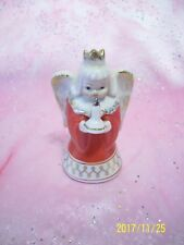 *Super Rare Vtg* Japan Christmas Angel Girl Gold Crown Holds Candle Lantern Lamp