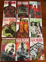 Dynamite Red Team:Double Tap #1-9 COMPLETE SET-Garth Ennis 1st Prints-Main Cover