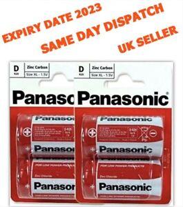 Panasonic Size D LR20 Batteries X 4 LR20, MN1300 Zinc Carbon 1.5 V