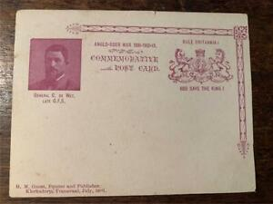 Rare 1901 Anglo Boer War 1899 1901 Commemorative postcard General C De Wet