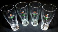 Heineken Red Star Brew Lock System Beer Drinking Glasses Etched (4) 16 oz 7.5