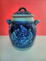 Antiguo Tibor Jarron de porcelana, fabricado en Alemania. Decorado de epoca.