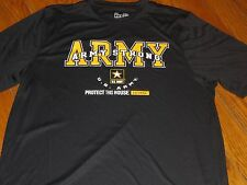 NWT UNDER ARMOUR MENS Large  US ARMY STRONG PROTECT THIS HOUSE' LOOSE BLK SHIRT