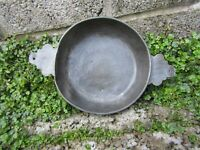 Rare antique Scottish pewter Quaich bowl - 18th century
