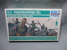 AM186 ESCI 1/72 MAQUETTE FIGURINES US PARATROOPERS 82A REF P-209 TRES BON ETAT