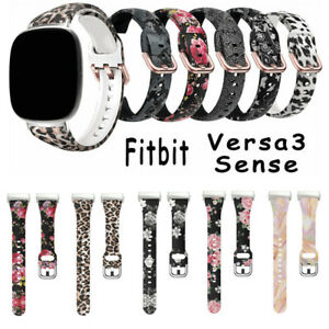 Slim Silicone Printed Watch bands for Fitbit Versa 3/Sense Bracelet Band Strap