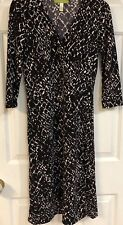 SIGRID OLSEN Multicolor Wrap Midi-Dress - 3/4 Sleeve  - Petite Small - EUC