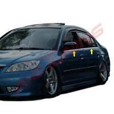 Fit For Honda Civic SD 4Door Chrome Window Trims Stainless Steel 2001-2006
