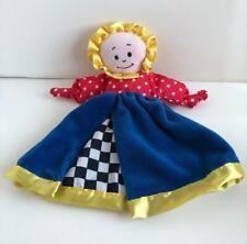 """Little Knotties Girl Doll Security Blanket Lovey 13"""" Lamaze 1997 Plush"""