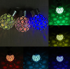 LED Solar Lamp Energy Saving 7 Colors Changing Plastic Ball Garden Hanging