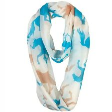 Your Gift Horse Infinity Scarf – Ivory – Horse Design – Great Present – FREE P&P