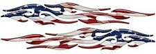 "Thin Tribal Flame Decals American Flag Motorcycle Fender 36"" Reflective Fl02"