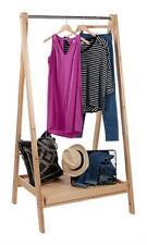 A Frame Wood Display Shelf Retail Display Merchandise Clothing Rack Single Rail