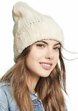 FREE PEOPLE IVORY COMPASS CUFF BEANIE WINTER HAT NWT