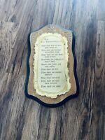 Vintage Home Interiors The 10 Commandments Plaque