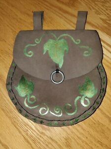 Medieval Leather Belt Bag Pouch Renaissance Cosplay Poison Ivy