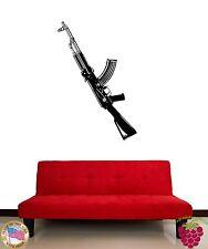 Wall Stickers Vinyl Decal Guns Ak-47 War Military z1093