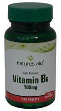 Vitamin B6, High Potency ,100mg, x 100 tablets - FREE UK POST - Natures Aid