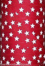 """Yarda 1 - 22mm (7/8"""") de ancho rojo/blanco de la impresión estrella patriótica cinta del grosgrain"""