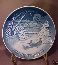 1970 Copenhagen Christmas Plate Pheasants In The Snow