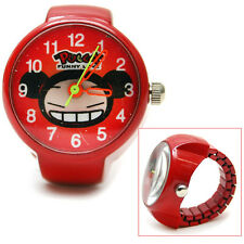 Pucca Ring Finger Watch Red Cute Stainless  Real Watch