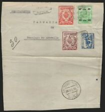 Sobres y tarjetas de España hasta 1949 sobre de 3 sellos
