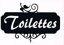 STICKERS pour porte toilettes salle de bain ex..
