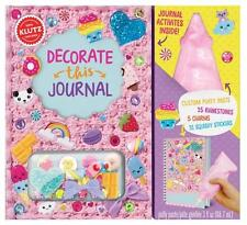 Decorate This Journal - Decorate Your Own Journal Kids Klutz Book & Activity Kit