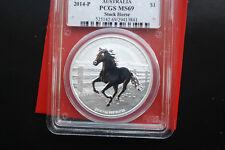 """Australia: 1 dollari """"Stock Horse"""" 2014-p, PP-proof # F 2056 PCGS MS 69"""