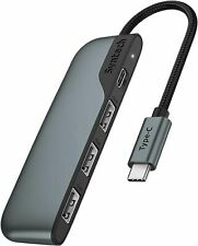 USB C Hub, 4-in-1 USB C to USB Adapter with Type-C Charging, Thunderbolt 3 Multi