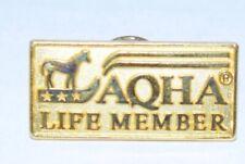Vintage American Quarter Horse Aqha Life Member Pin Gold Color Rare Hat Tie