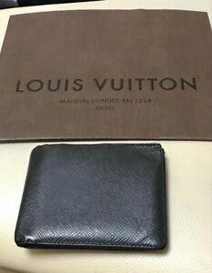 Authentic Louis Vuitton Bi fold Wallet Mens Black