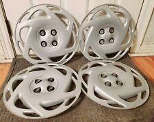 "Set of 4 OEM Saturn SL SW SC 15"" Bolt-On Hubcap Wheel Covers GM p/n 21012900"