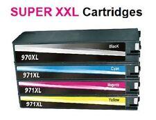 4 cartuchos para HP OFFICEJET PRO X451DW X476DW X551DW X576DW wie 970xl+971xl