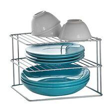 Metaltex palio - rinconera de cocina con 3 estantes gris
