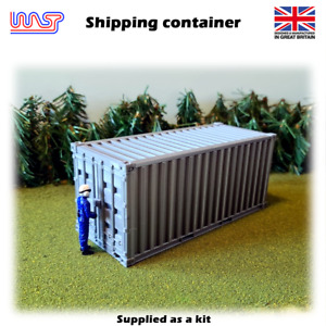 WASP 3D printed Shipping container -  track side, scenery, 1/32