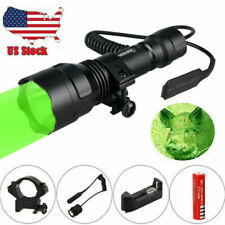 Led Tactical Red Green Weapon Gun Light Pig Coyote Hunting Flashlight Kits+Mount