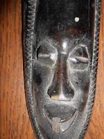 ANCIEN STATUE SCULPTURE STATUETTE MASQUE BOIS EBENE H34 AFRICAIN AFRIQUE SENEGAL