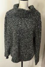Jones New York Women's Heather Gray Cowl Neck Pullover Sweater Size Petite Large