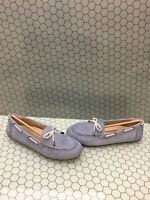 NIB Vionic HONOR VIRGINIA Blue Leather Slip On Moccasin Loafers Women's Size 10