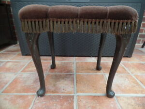 Brown Dralon button top Stool