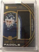 2015 Stickwork Felix Potvin Goalie Paddle /9 Game-Used ITG Leaf SP 14/15