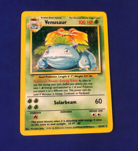 Venusaur MP Holo Rare Pokemon Base Set Unlimited