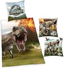 Herding Jurassic World Bettwäsche & 2 Kuschelkissen Bettwaren Kissen T-Rex Dino