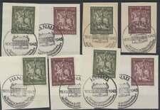 D.Reich Nr. 860-861, 4 Sätze sauber gestempelt auf Briefstücken (43983)