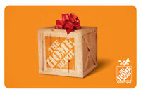 $100 The Home Depot Physical Gift Card - Standard 1st Class Mail Delivery