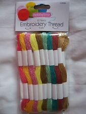 Skeins Cross Stitch Cotton Embroidery Floss Sewing Thread Colors 100 Different 20 Pcs Multicolor