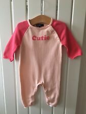 Baby Girl's Clothes 0-3 Months -Baby GAP Pink & Peach Knitted Outfit Cute!!!