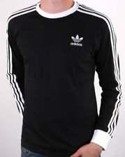 Adidas Originales 3 Rayas LS camiseta Negro/Blanco