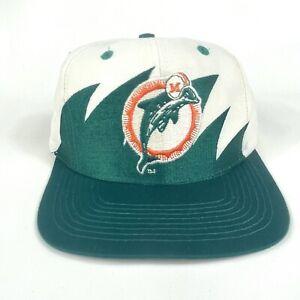 Vintage 90's Miami Dolphins Sharktooth Logo 7 Snapback Hat Cap NFL Football